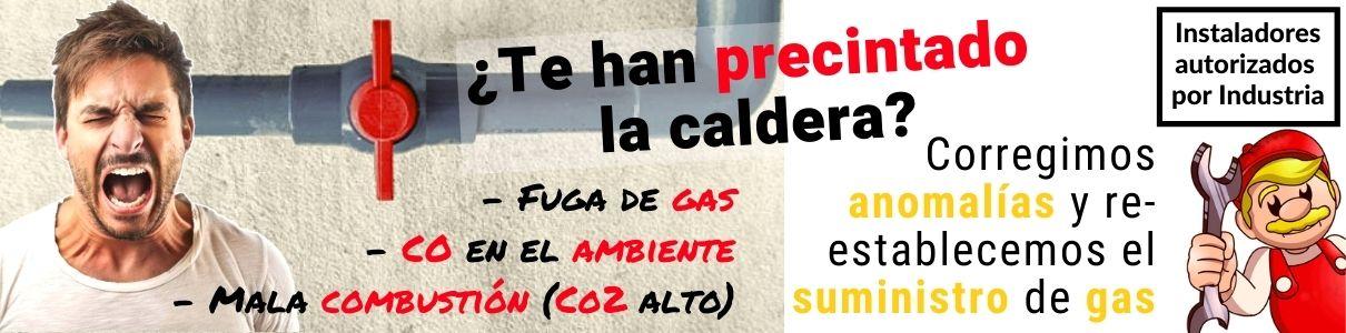 Caldera precintada gas natural