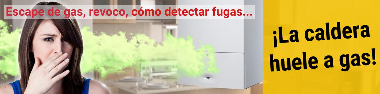 La caldera huele a gas