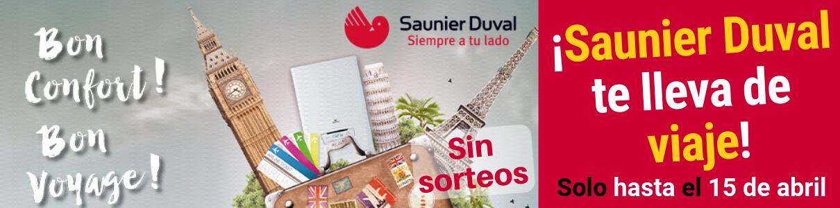 Promoción Saunier Duval - Viaja gratis al instalar tu caldera