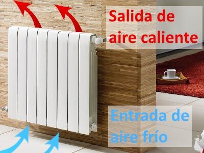 despeja el radiador para ahorrar en calefacción