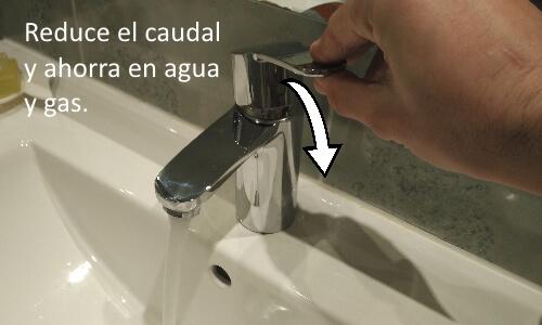 Reducir caudal de agua grifo